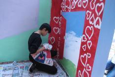 情緒健康壁畫工作坊活動相片